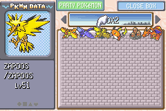 Pokemon Fire Red - the three legendary birds - User Screenshot